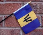 HAND WAVING FLAG (SMALL) - Barbados